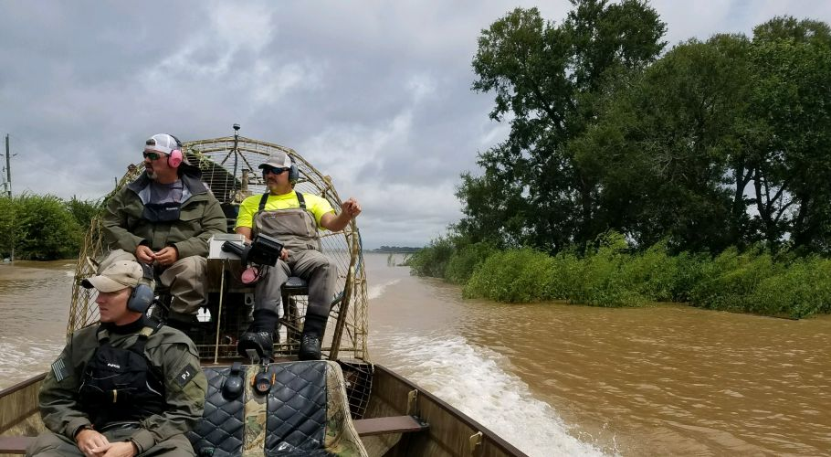 AIR BOAT RESCUING